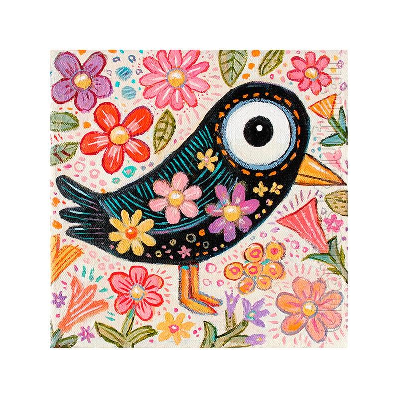 Bird and flowers - Kaufmann, Charles - k-CHK372