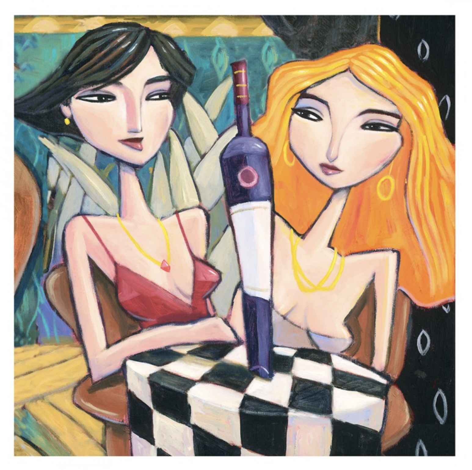 women and wine - Kaufmann, Charles - k-CHK393