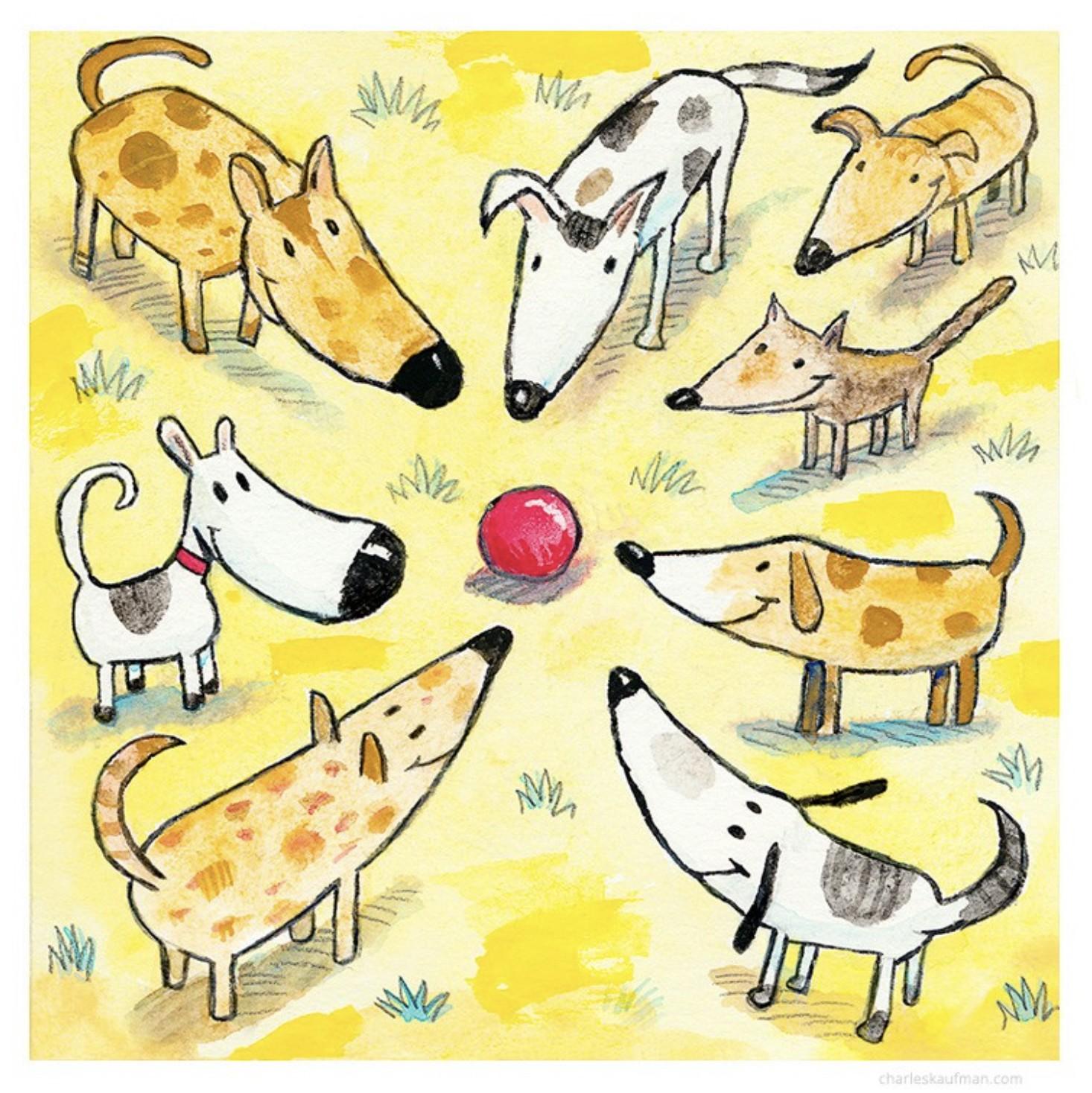 eight dogs one ball - Kaufmann, Charles - k-CHK394