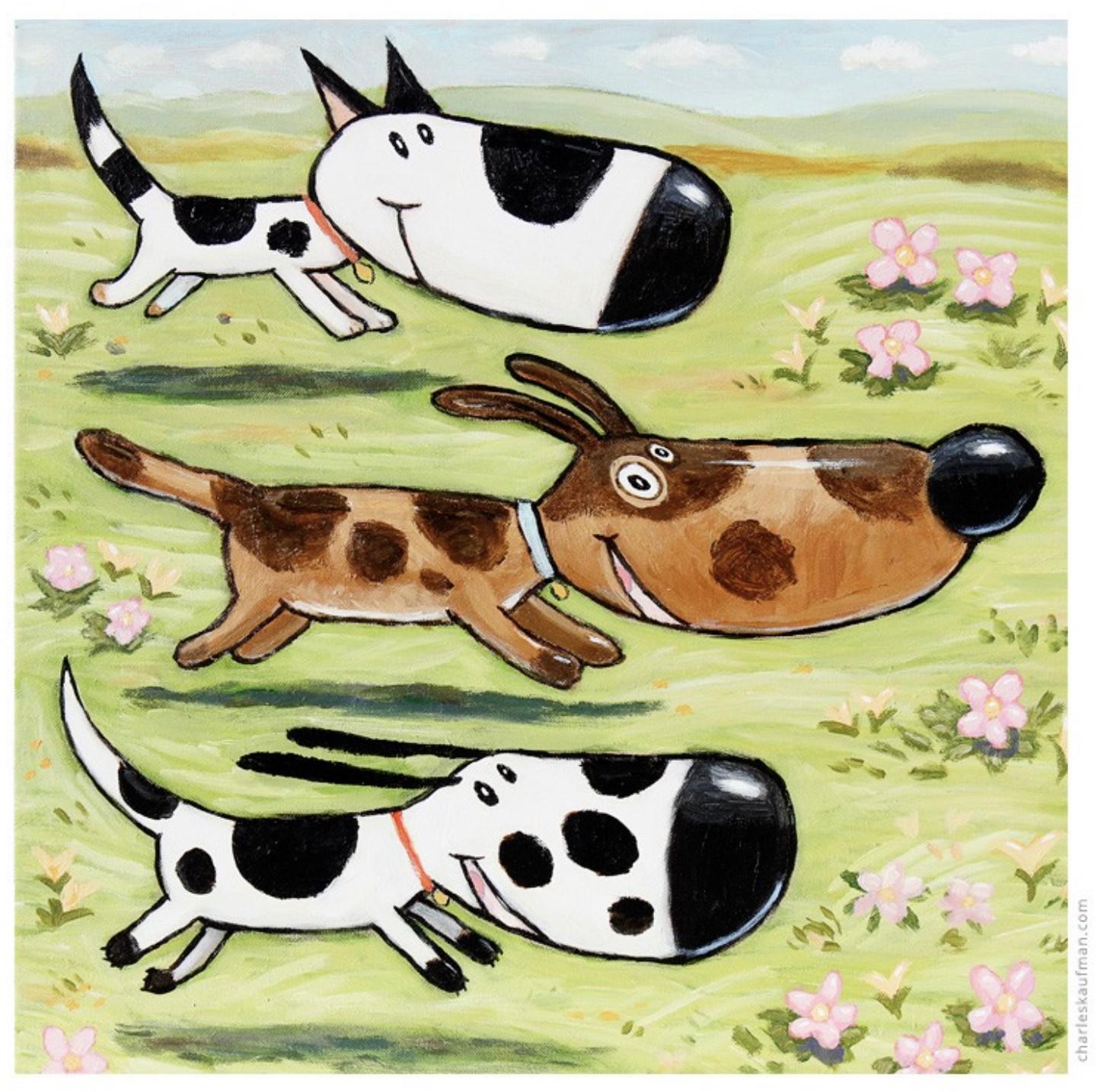 Three happy dogs - Kaufmann, Charles - k-CHK397