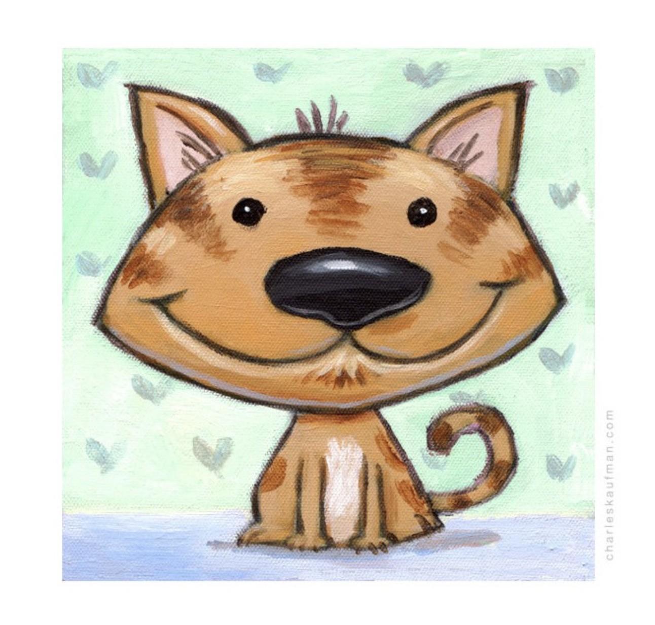 Happy brown cat - Kaufmann, Charles - k-CHK399