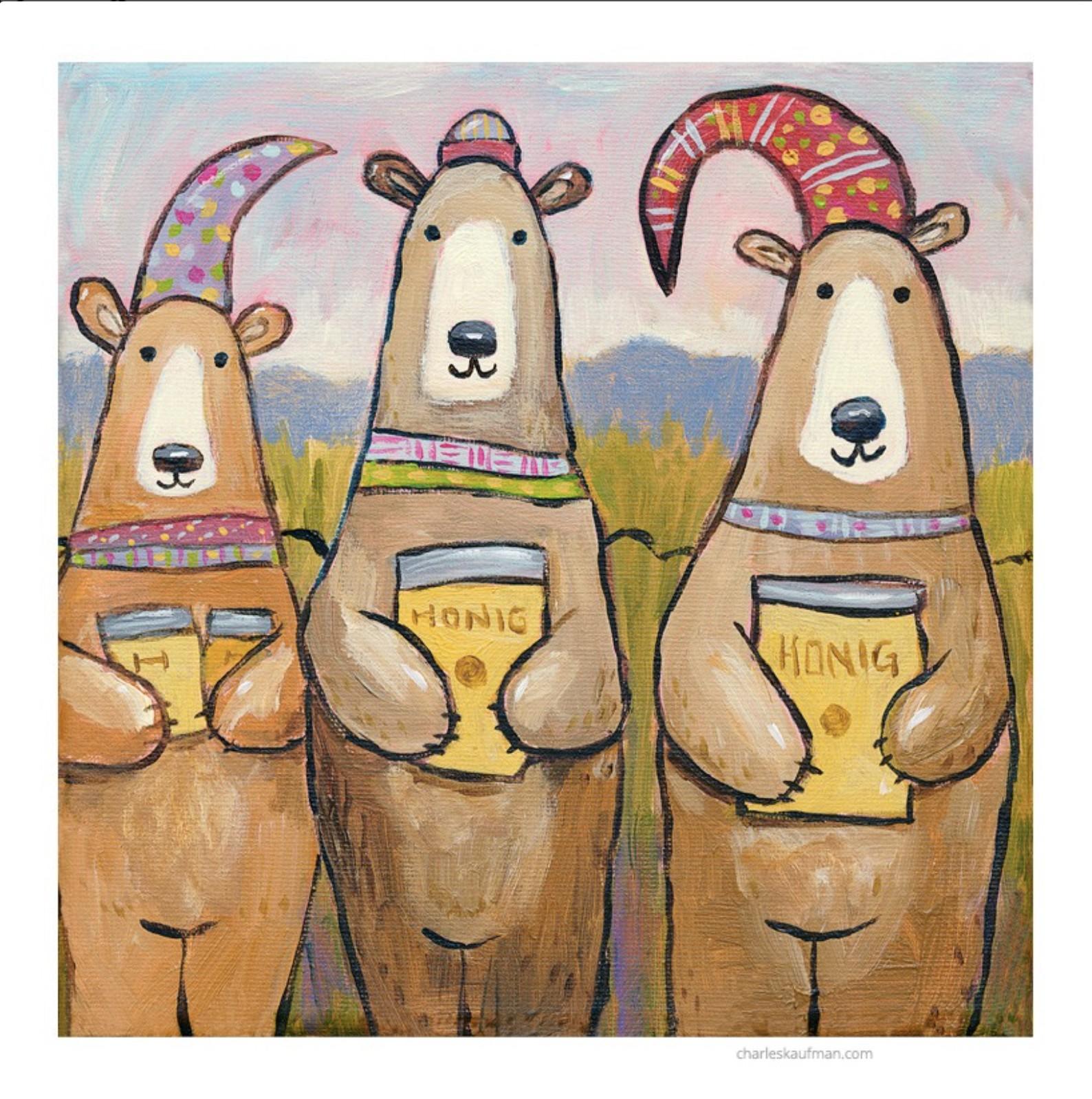 three bears and honey - Kaufmann, Charles - k-CHK402
