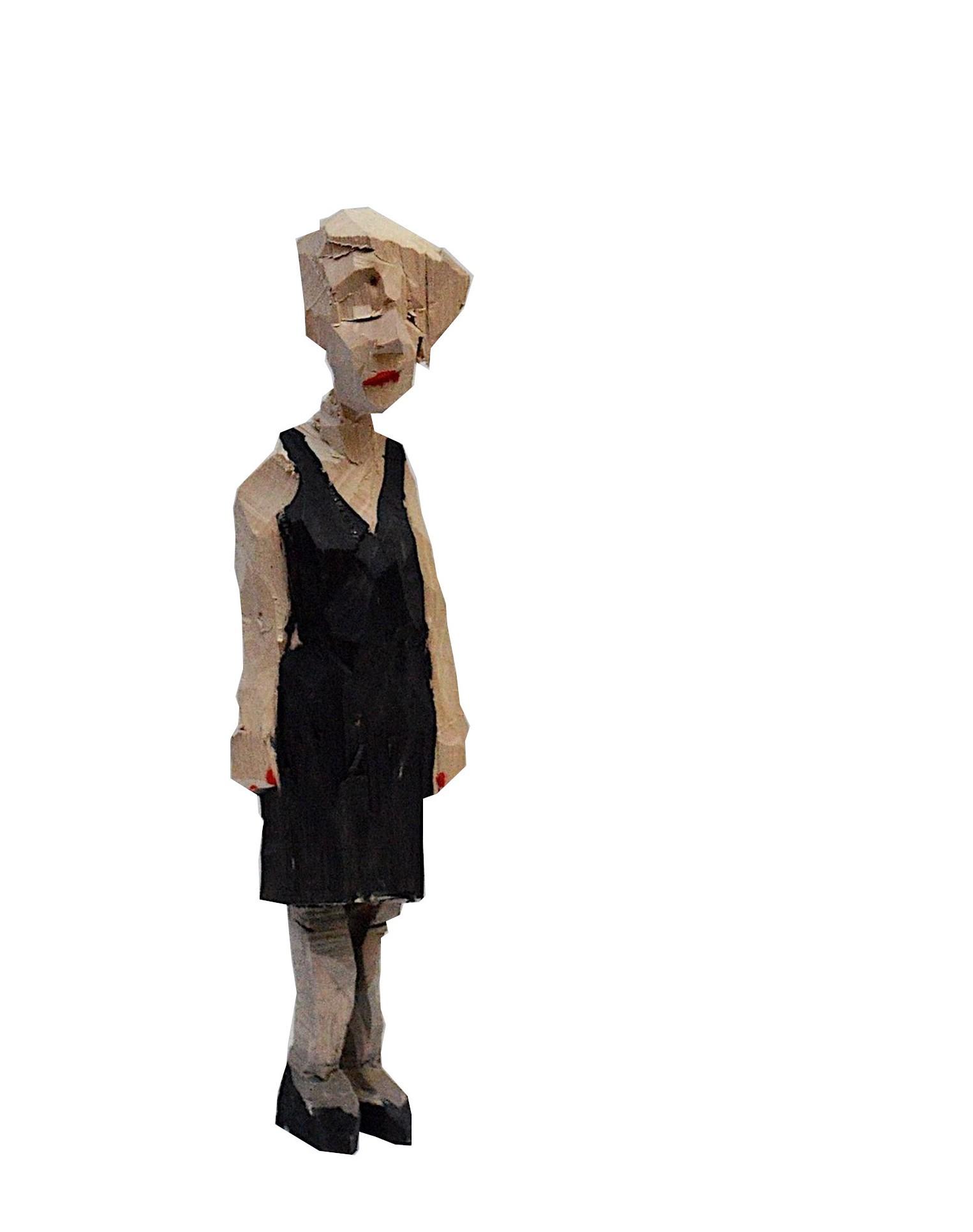 Frau in kleinem Schwarzen - Schulz, Georg - k-GS538