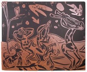 Bacchanal mit Ziege und Eule - Picasso, Pablo - k-PP29a