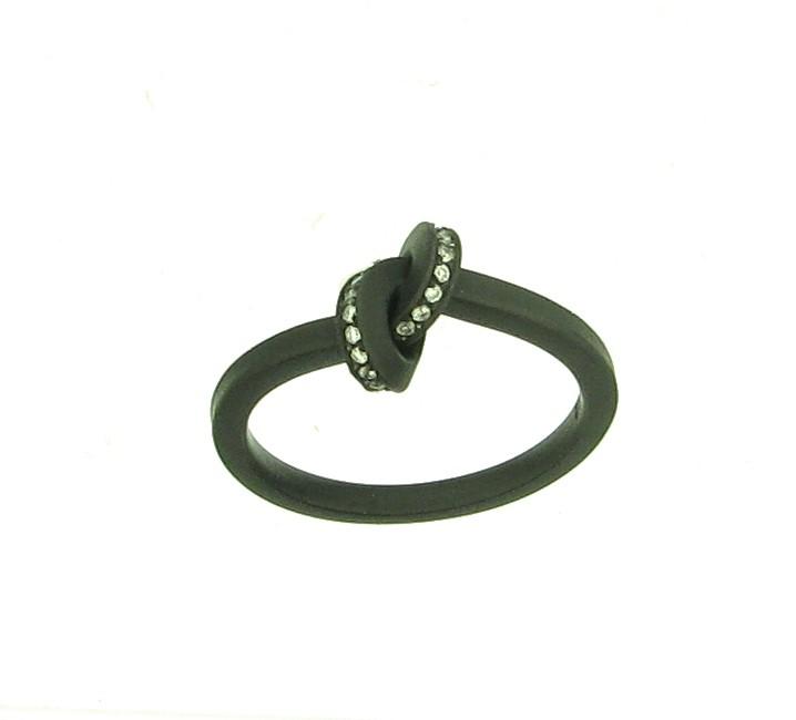 Ring Knoten Edelstahl schwarz - Oliver Schmidt - o300.32,5w