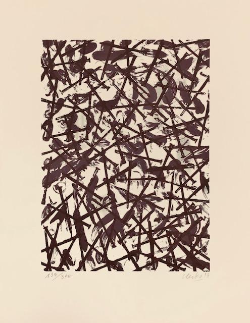 Günther Uecker: Verletzungen-Verbindungen, Siebdruck, 62 x 48 cm, Auflage 300, handsigniert, 1.480 Eur