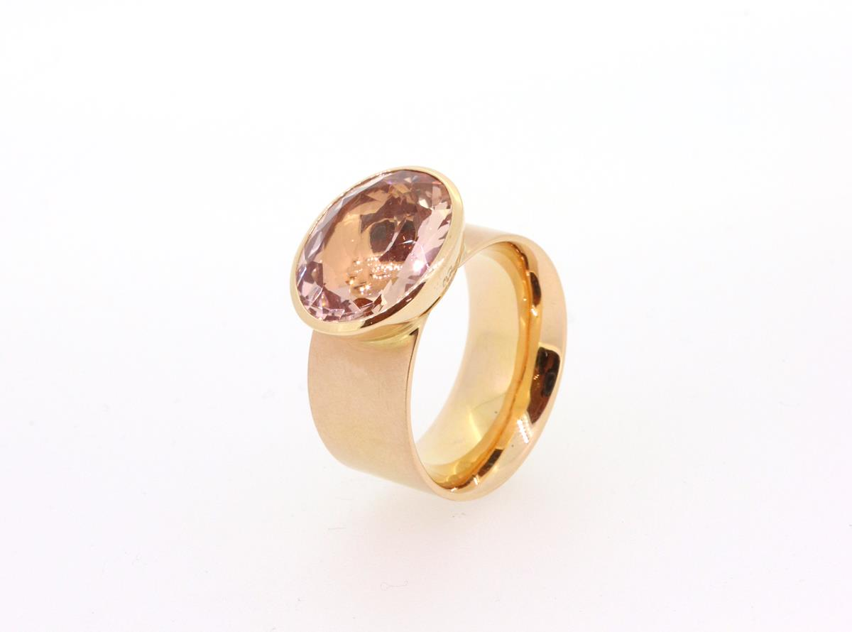 Ring Solo Morganit 18ct Rotgold - Georg Spreng - 421spre03-1