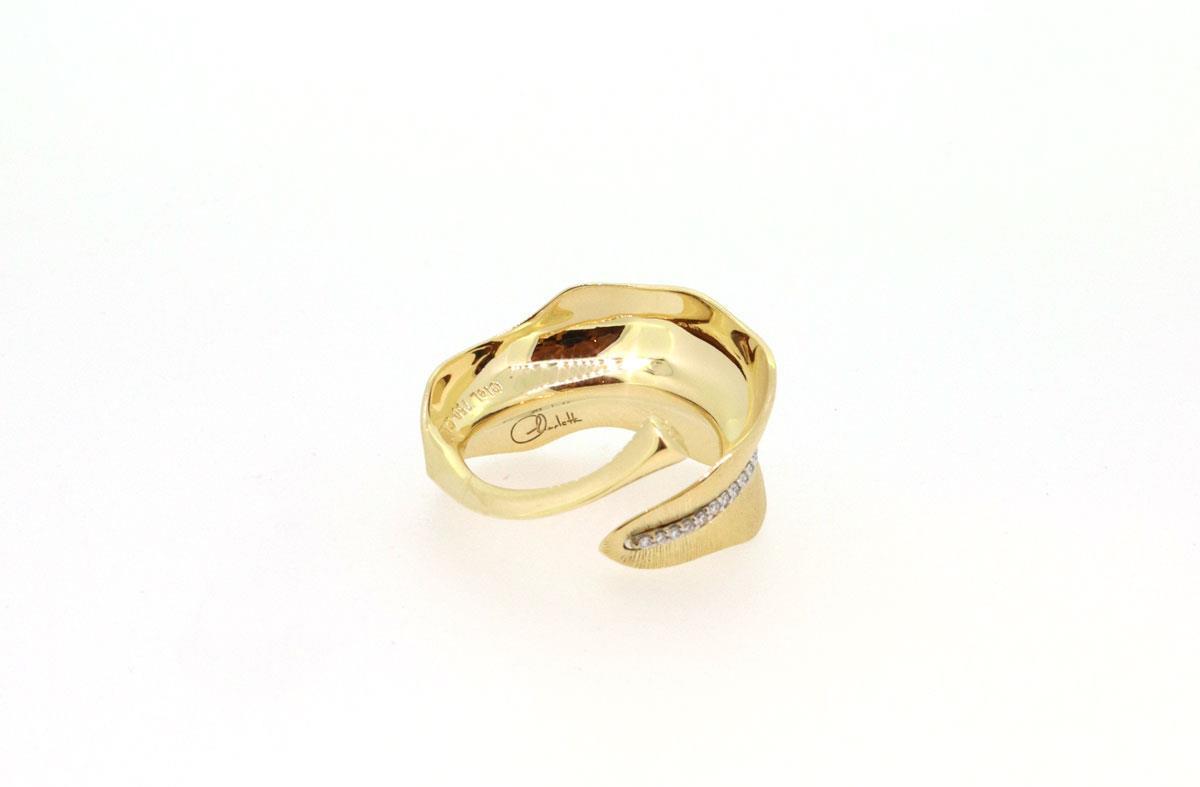 Ring Leaves medium Brillanten 18ct Gold - Ole Lynggaard - A3009-402