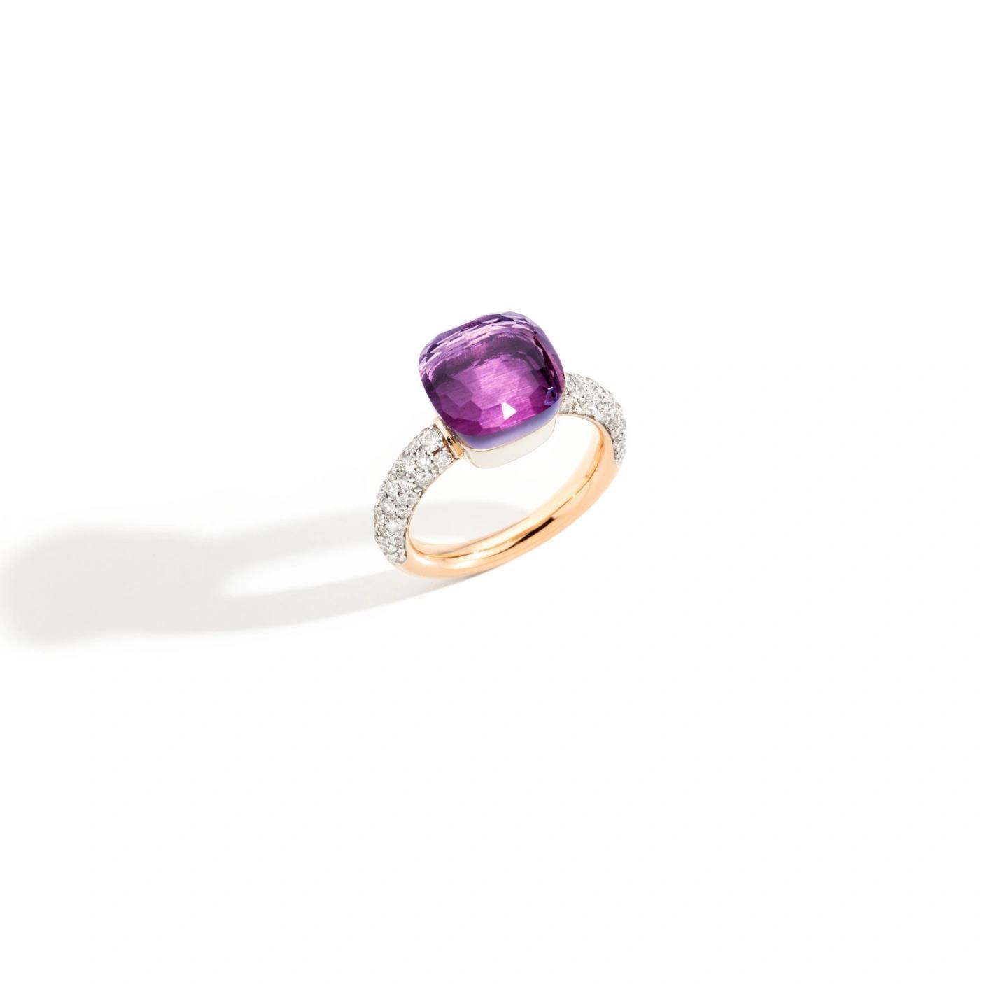 Ring Nudo Classic Amethyst - Pomellato - PAC0040O6WHRDB0OI