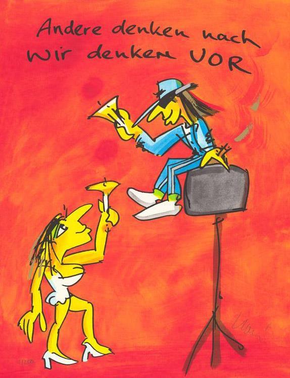 andere denken nach, wir denken vor - Lindenberg, Udo - k-2104LIN5