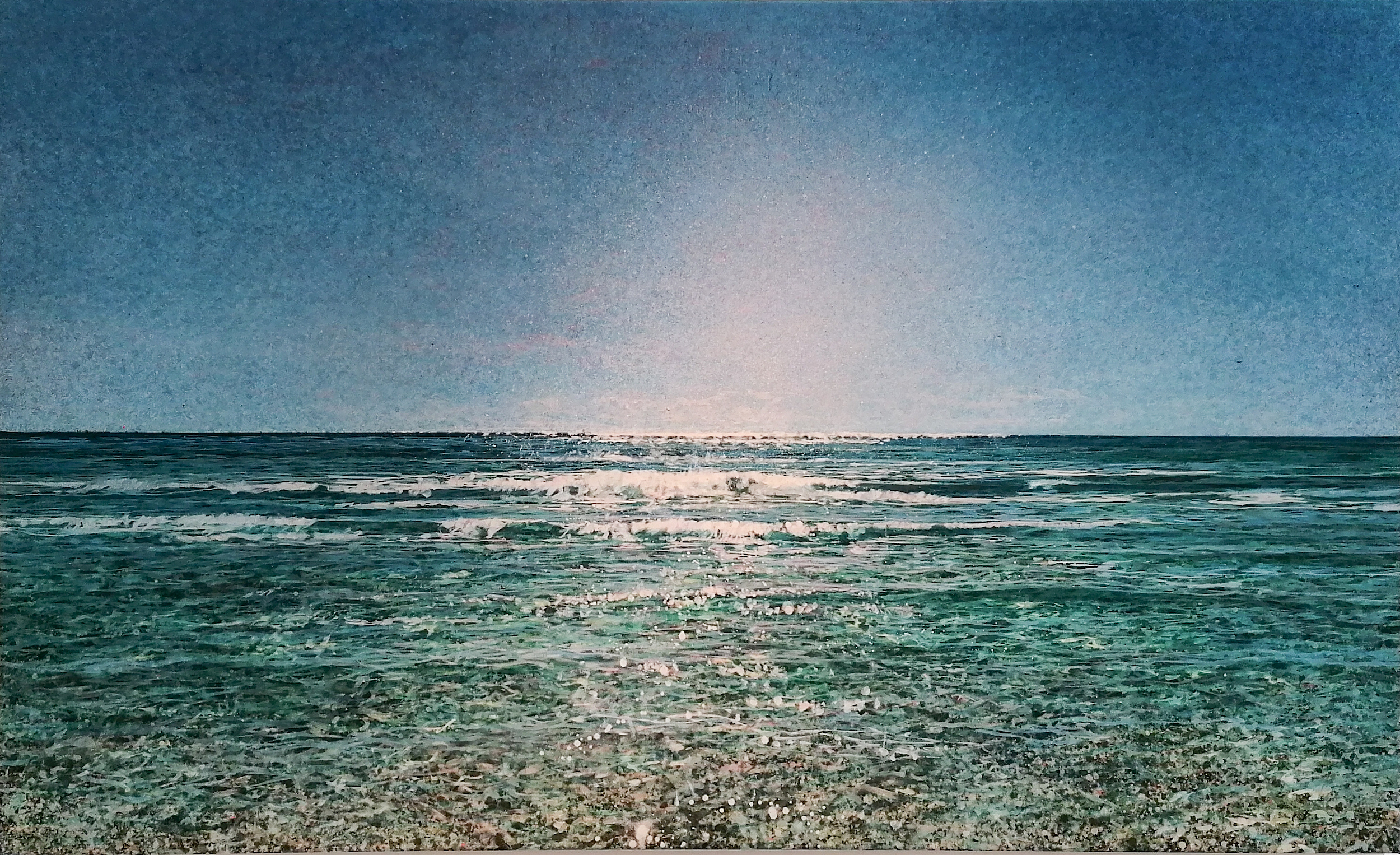 Robert Arató: Seascape 1, Druck auf Leinwand, gefirnisst, 140 x 85 cm, 980 Eur