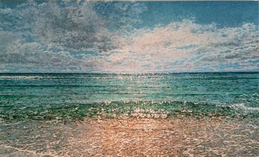Robert Arató: Seascape 2, Druck auf Leinwand, gefirnisst, 140 x 85 cm, 980 Eur