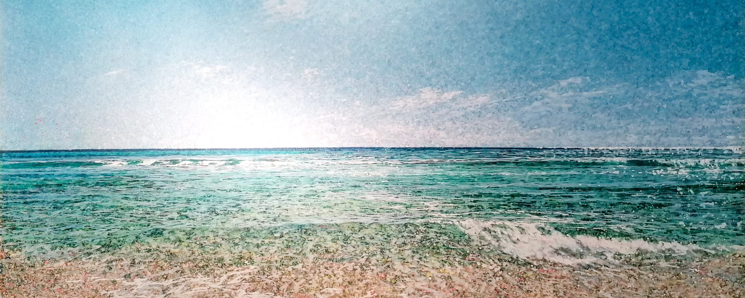 Robert Arató: Seascape 3, Druck auf Leinwand, gefirnisst, 190 x 120 cm, 1.750 Eur