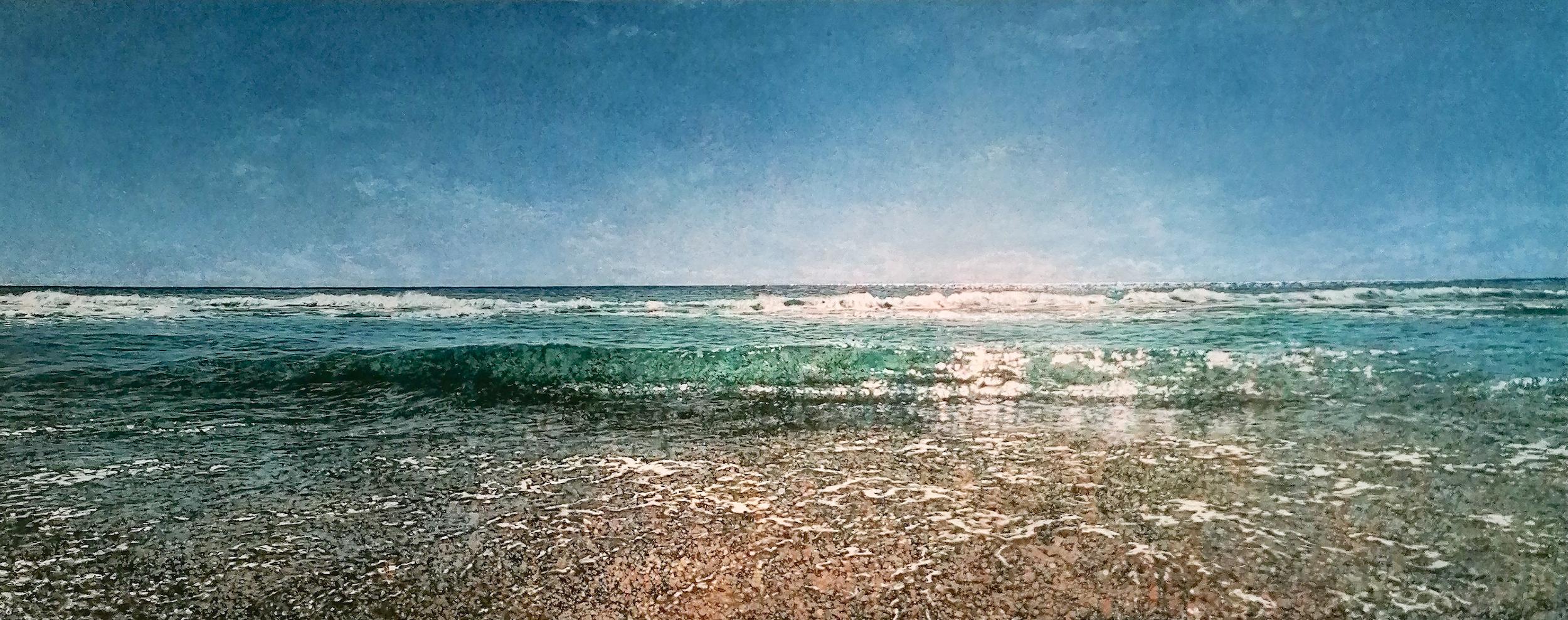 Robert Arató: Seascape 5, Druck auf Leinwand, gefirnisst, 140 x 57 cm, 950 Eur