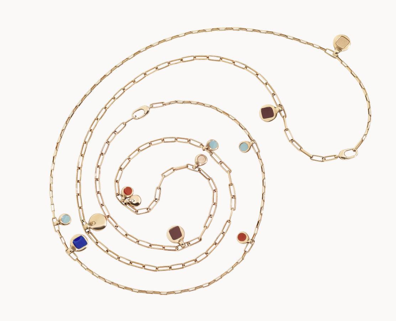 Kette Bazaar 90cm Silber rosegoldplattiert - Dodo - DCC1010_BAZAA_EXRAG