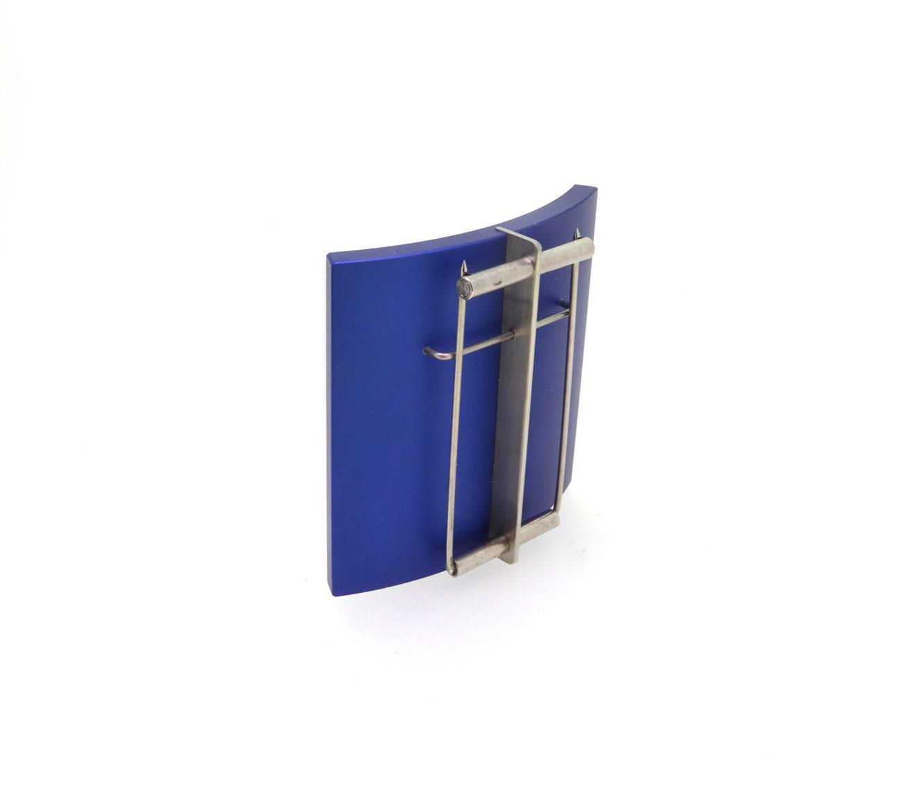 Brosche Aluminium blau - Carl Dau - 6094-2842