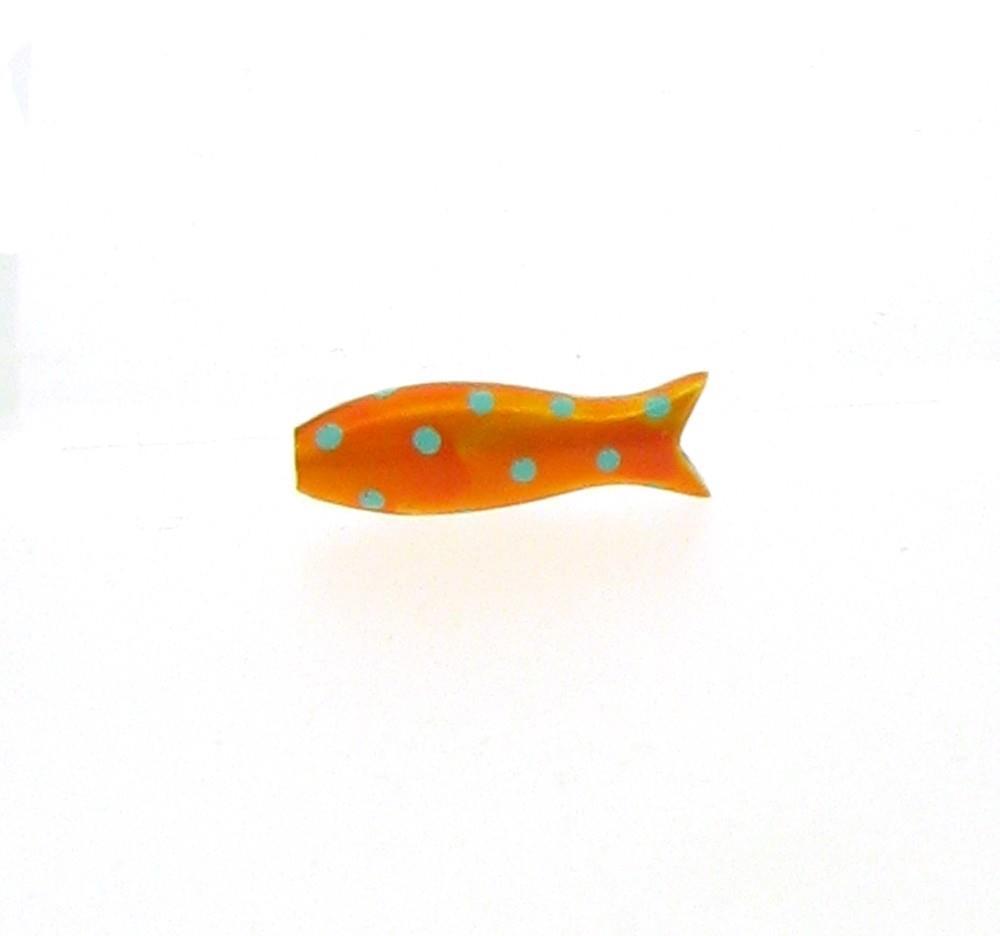 Anhänger kleiner Fisch Emaill orange 925 Silber - Sabine Scheuble - F10007SEOP