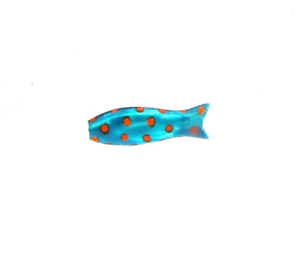 Anhänger Kleiner Fisch Emaillack türkis 925 Silber - Sabine Scheuble - F10007SETP