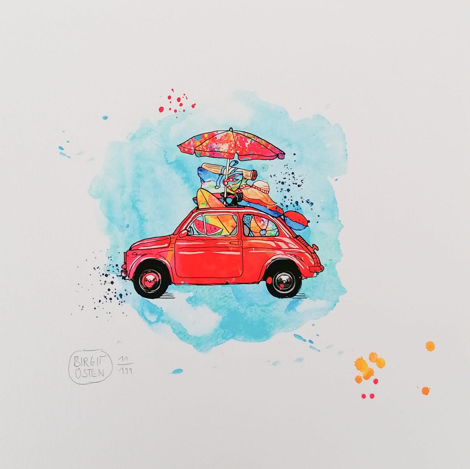 Happy Cars: Fiat 500 - Osten, Birgit - k-BO98