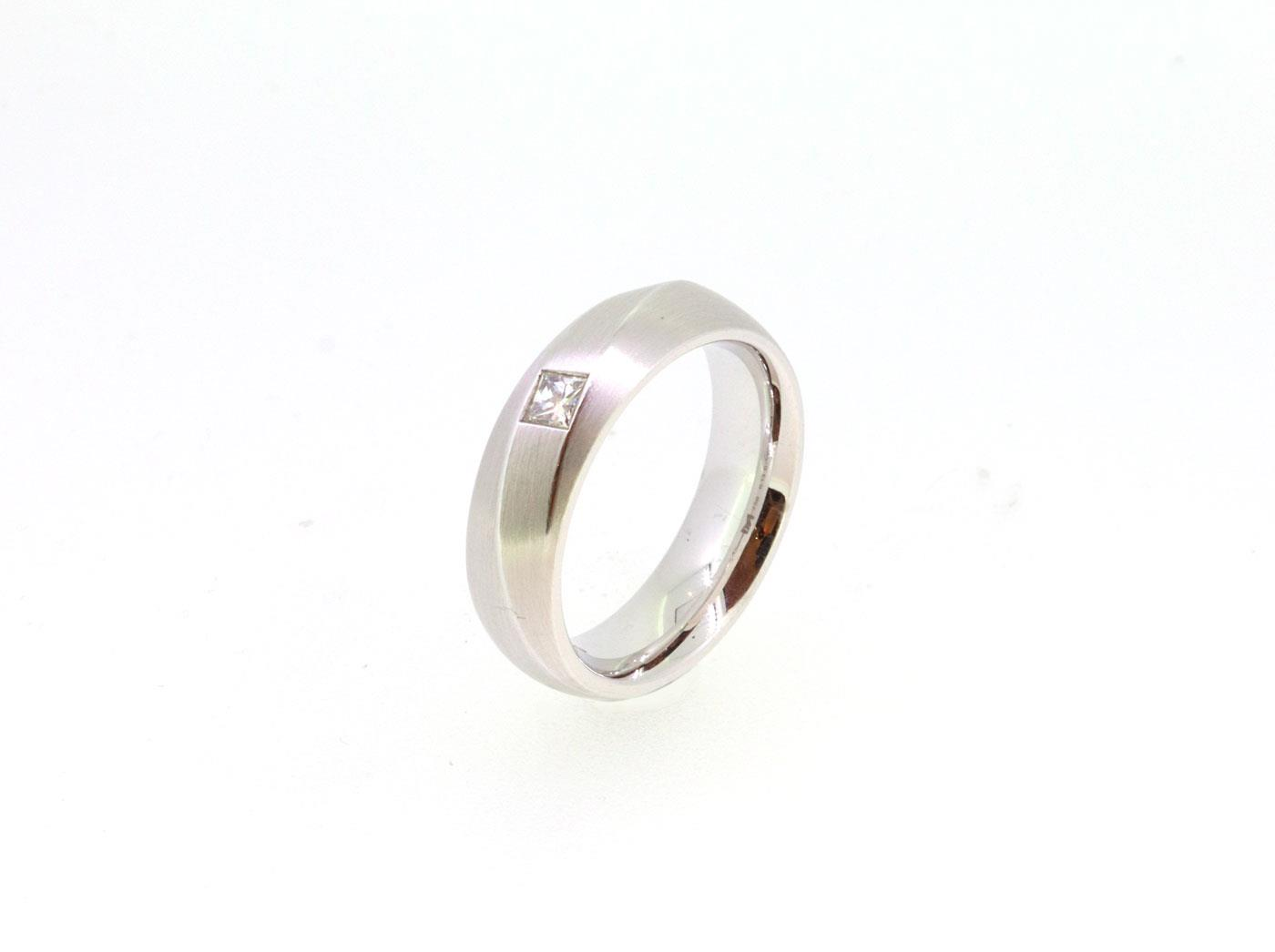 Ring 0,13ct Twinset 18ct Weißgold - Meister - 12.8753.00