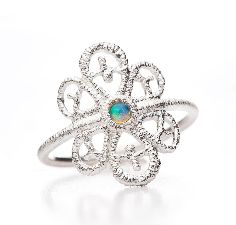 Ring Carmina Opal 925 Silber - Brigitte Adolph - 1273n-AG-Op-1