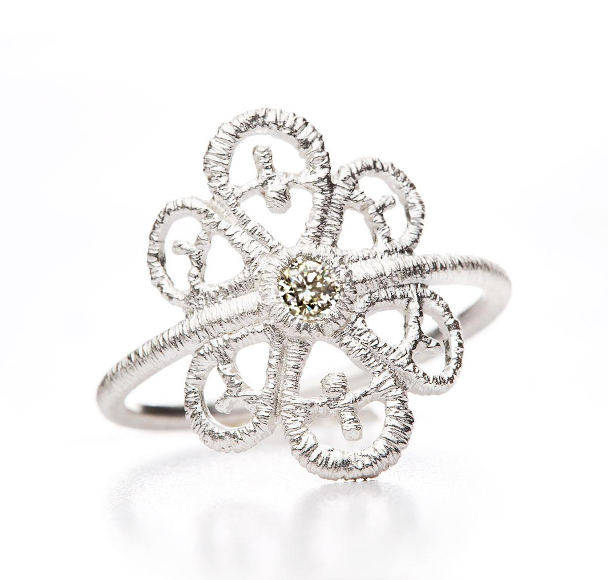 Ring Carmina Diamant 925 Silber - Brigitte Adolph - 1273n-AG-cha-1
