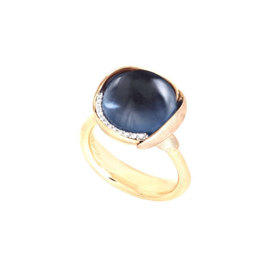 Ring Lotus No. 3 Londontopas - Ole Lynggaard - A2652-423