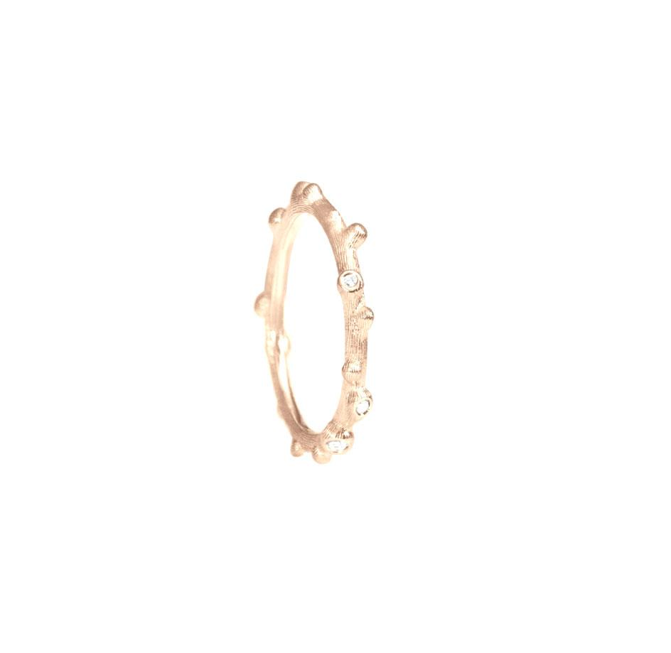 Ring Nature 18ct Roségold mit Brillanten - Ole Lynggaard - A2691-701