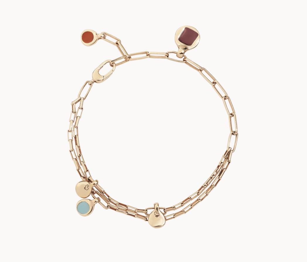 Armband Bazaar Silber rosegoldplattiert - Dodo - DBC1009_BAZAA_EXRAG_S