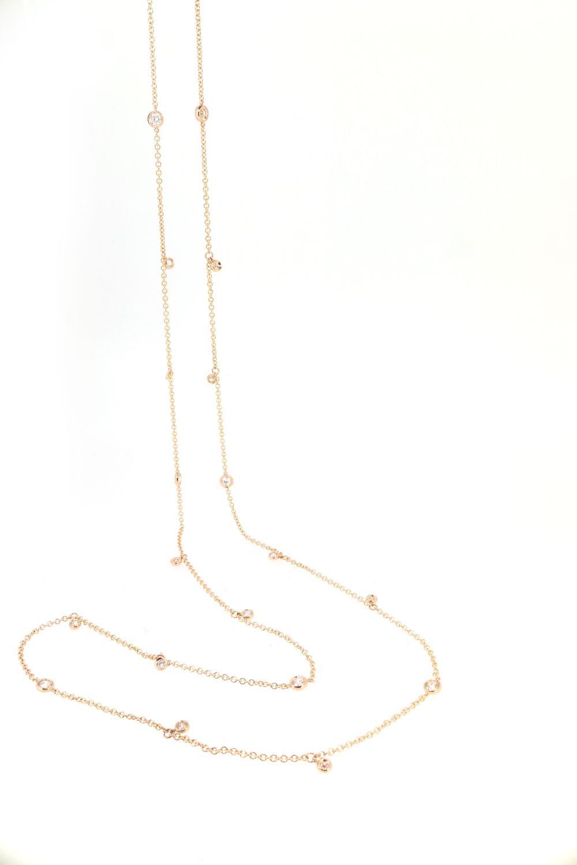 Kette weiße Diamanten 18ct Roségold - GalerieVoigt - FCL10CB90R001