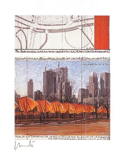 The Gates XXIV, signiert - Christo - k-603CHR1