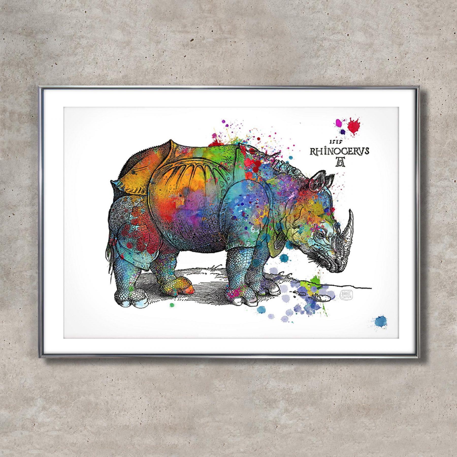 Happy Rhino, bunt - Osten, Birgit - k-BO96