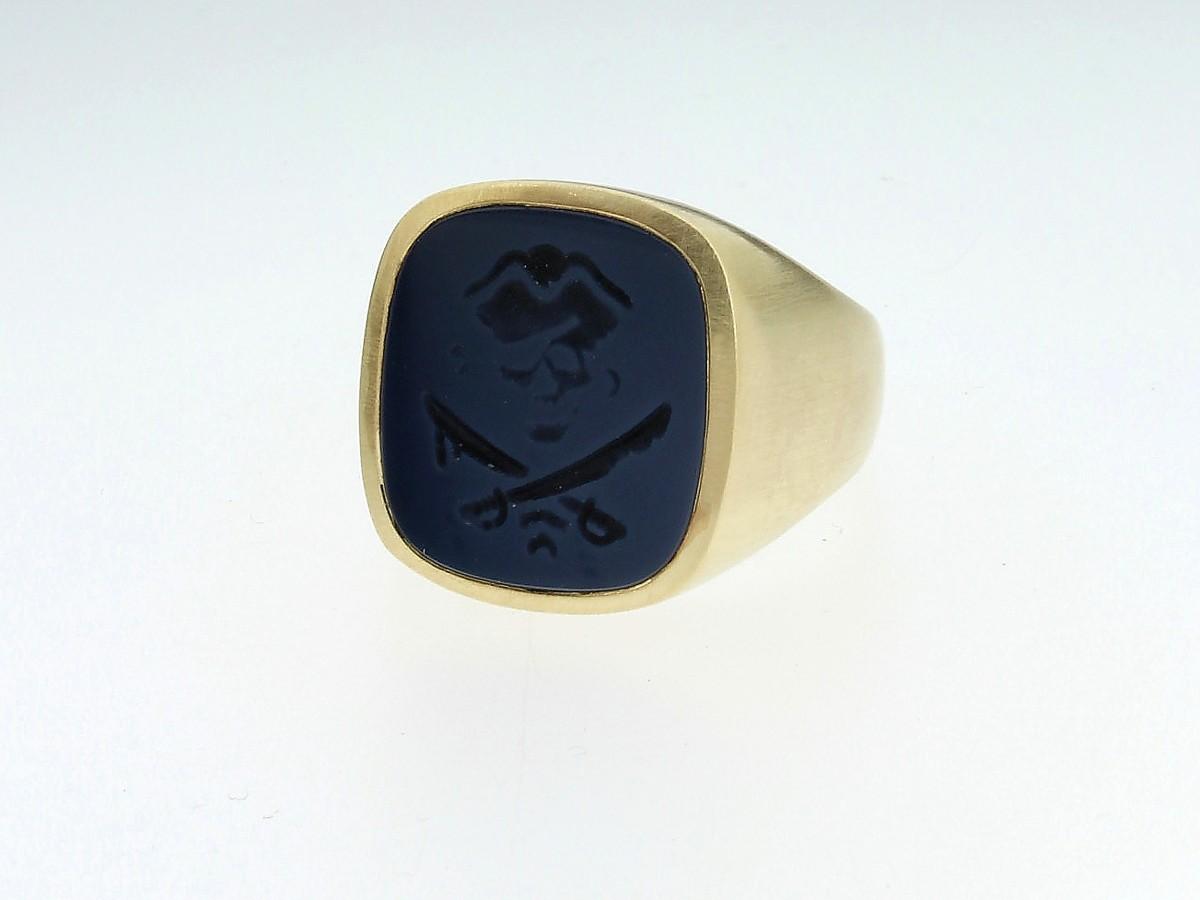 Siegelring Antik 14ct Gelbgold - Code Royal - 408coro09-14