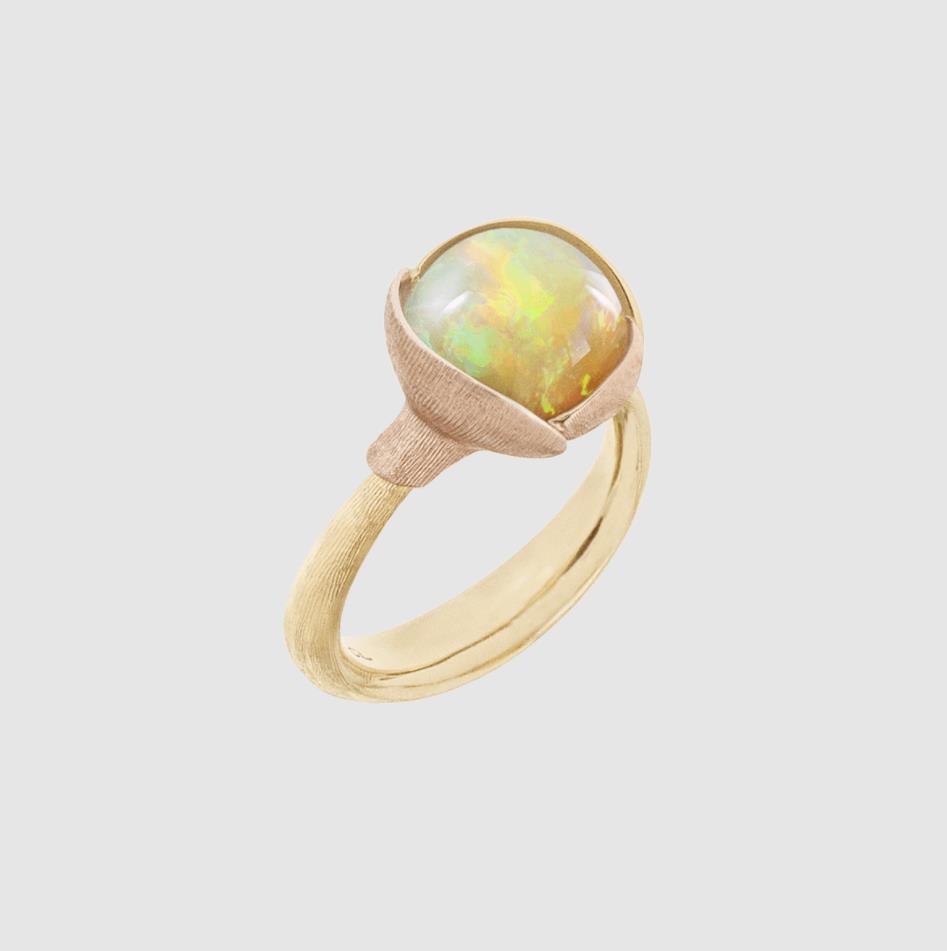 Ring Lotus no. 2 Opal 18ct Gold - Ole Lynggaard - A2651-428