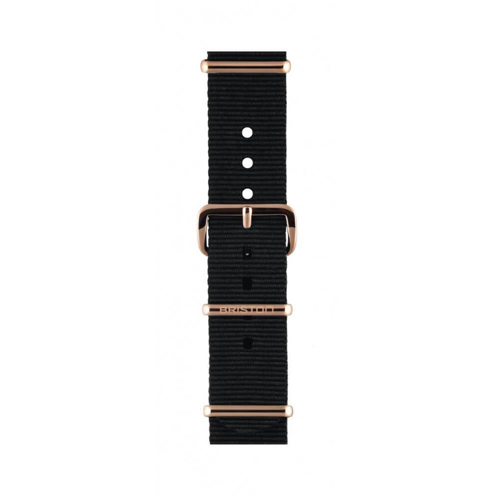 Uhrenarmband black 18 mm - Briston - NS18.PVDRG.B