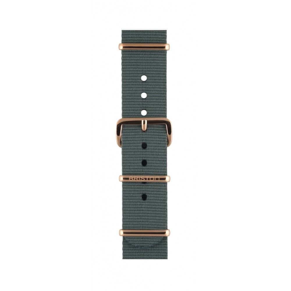 Uhrenarmband grey 18 mm - Briston - NS18.PVDRG.G