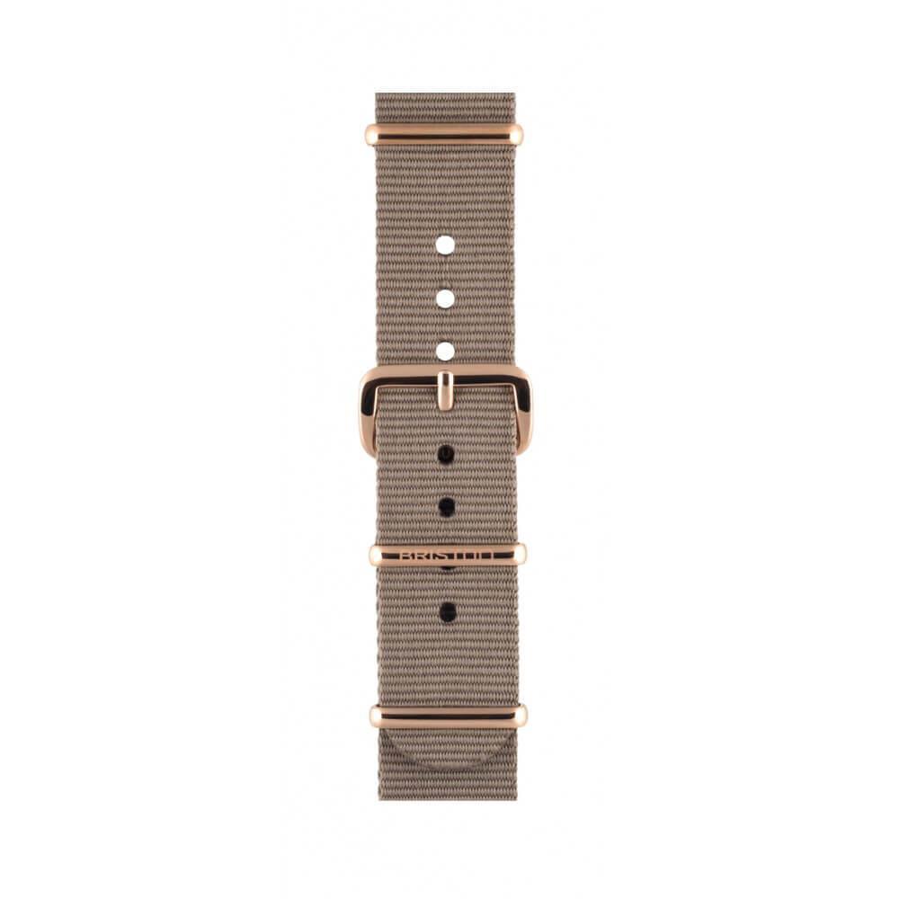 Uhrenarmband taupe 18 mm - Briston - NS18.PVDRG.T