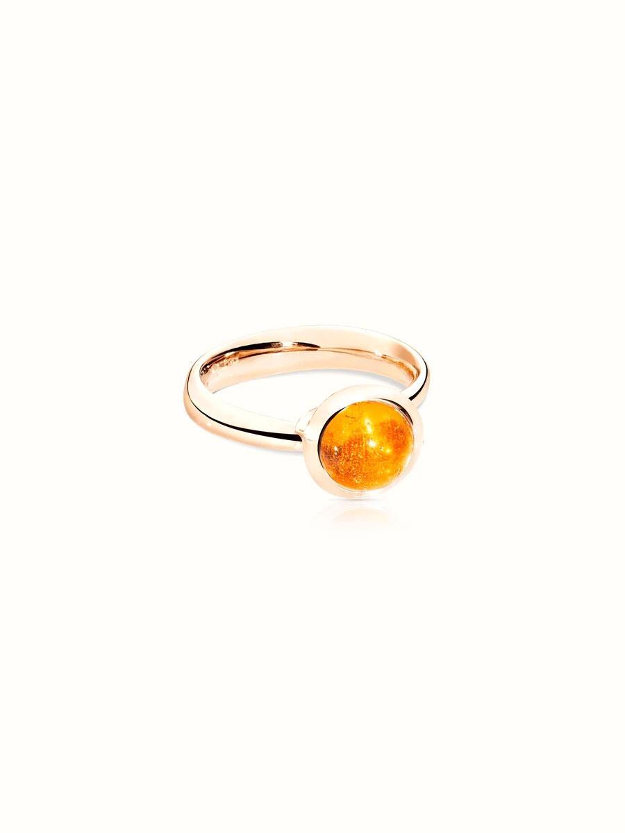 Ring Bouton klein Mandarin Granat Rosegold - Tamara Comolli - R-BOU-s-Man-rg