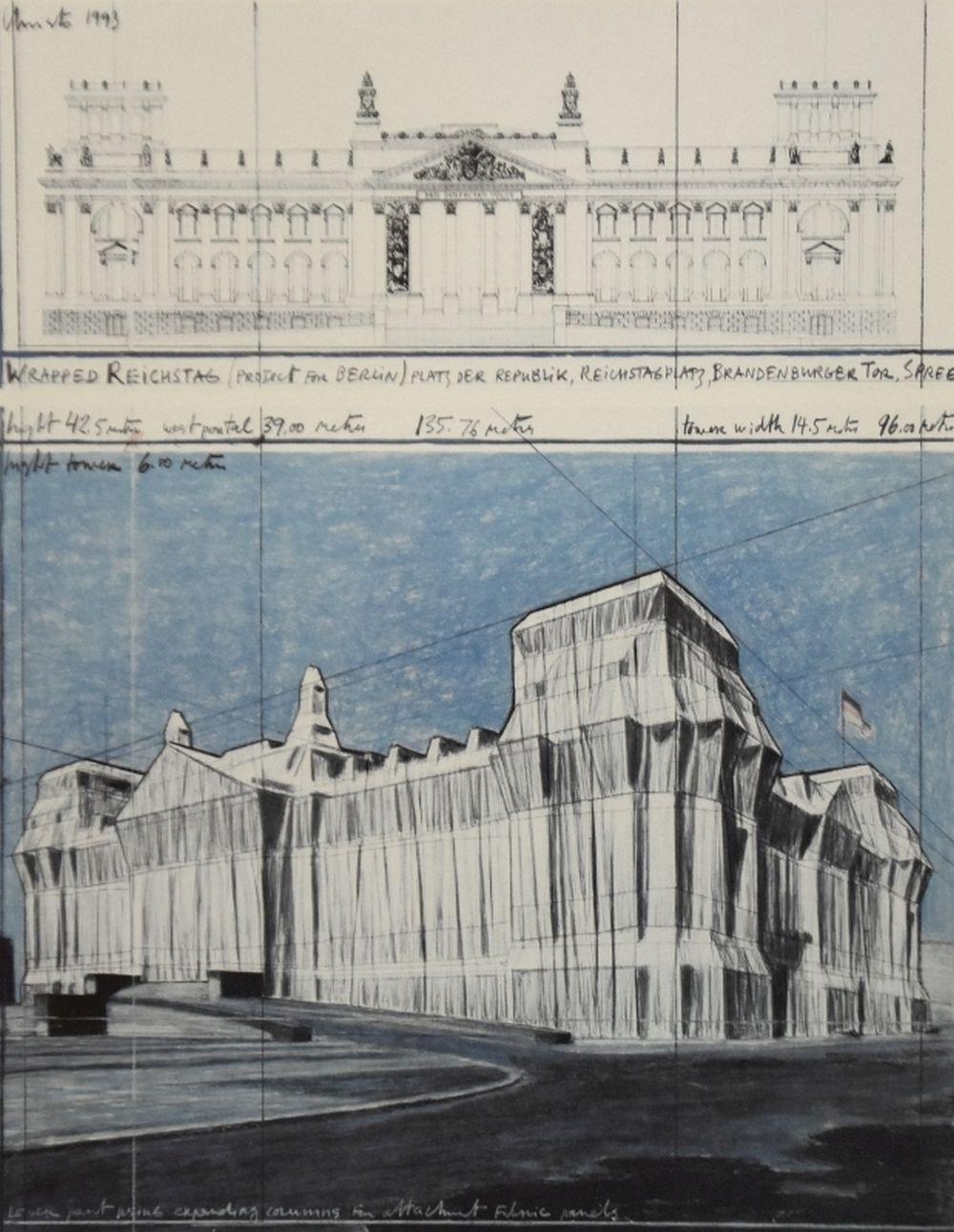 Wrapped Reichstag, signiert - Christo - k-2108CHR21