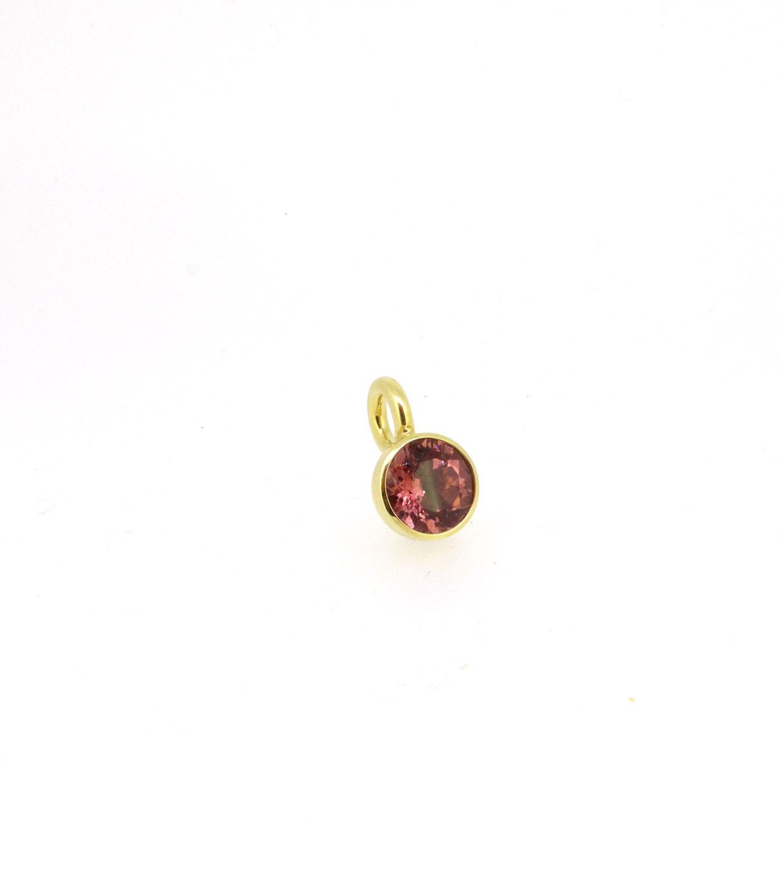 Anhänger Blub rosa Turmalin Gelbgold - Georg Spreng - 220spre12-14A