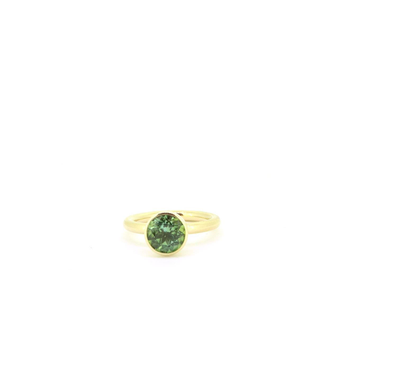 Ring Twiggy 8mm Turmalin mintgrün Gelbgold - Georg Spreng - 421spre09-4A