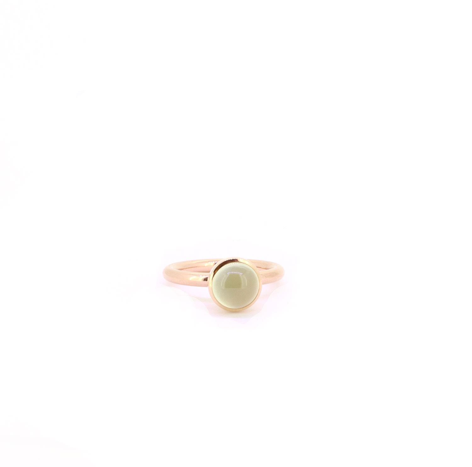 Ring Twiggy 8mm Prehnit Rotgold - Georg Spreng - 421spre09-5A