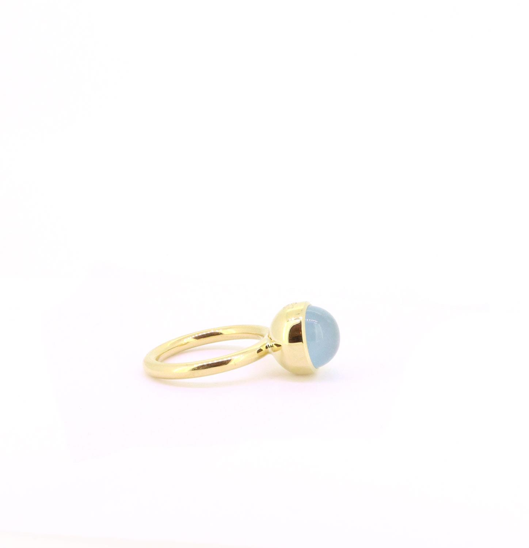 Ring Twiggy 10mm  Aquamarin Gelbgold - Georg Spreng - 421spre09-6A