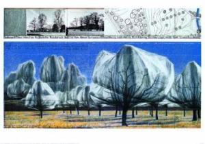 Wrapped Trees VI, signiert - Christo - k-12467