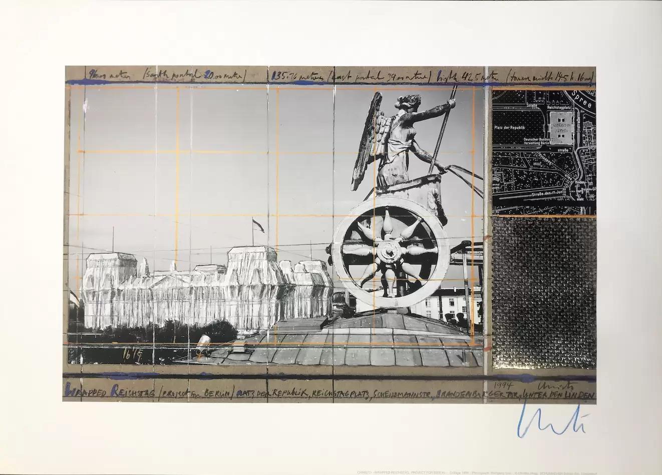 Verhüllter Reichstag XVI, (handsigniert), Nr. 16 - Christo - k-2108CHR7