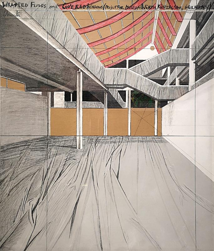 Wrapped Floors and, P.f.M. Würth 1995 - Christo - k-CHR16