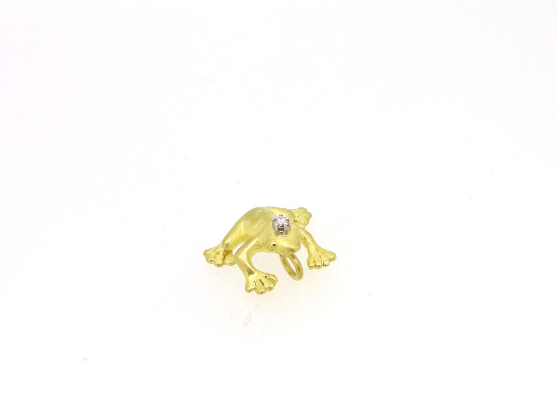Anhänger Frosch 18ct Gold - Individuelle Marken - 010316