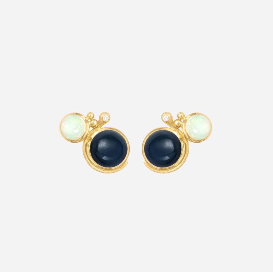 Ohrringe Lotus London Blue Topas Opal 18ctGelbgold - Ole Lynggaard - A2932-405