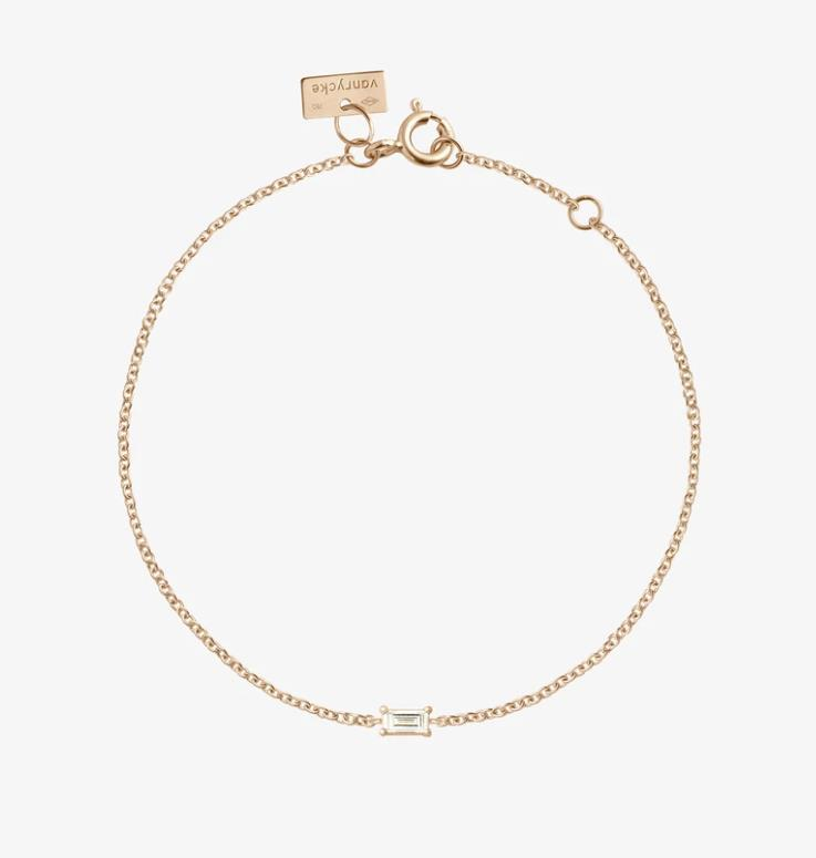 Armband Georgia Diamant Baguette Roségold - vanrycke - GG1R1-01