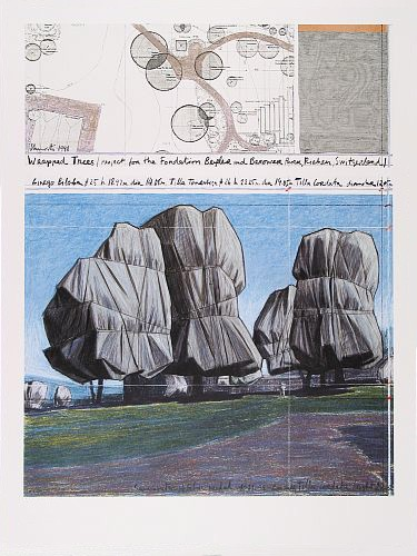 Wrapped Trees II, unsigniert - Christo - k-12236